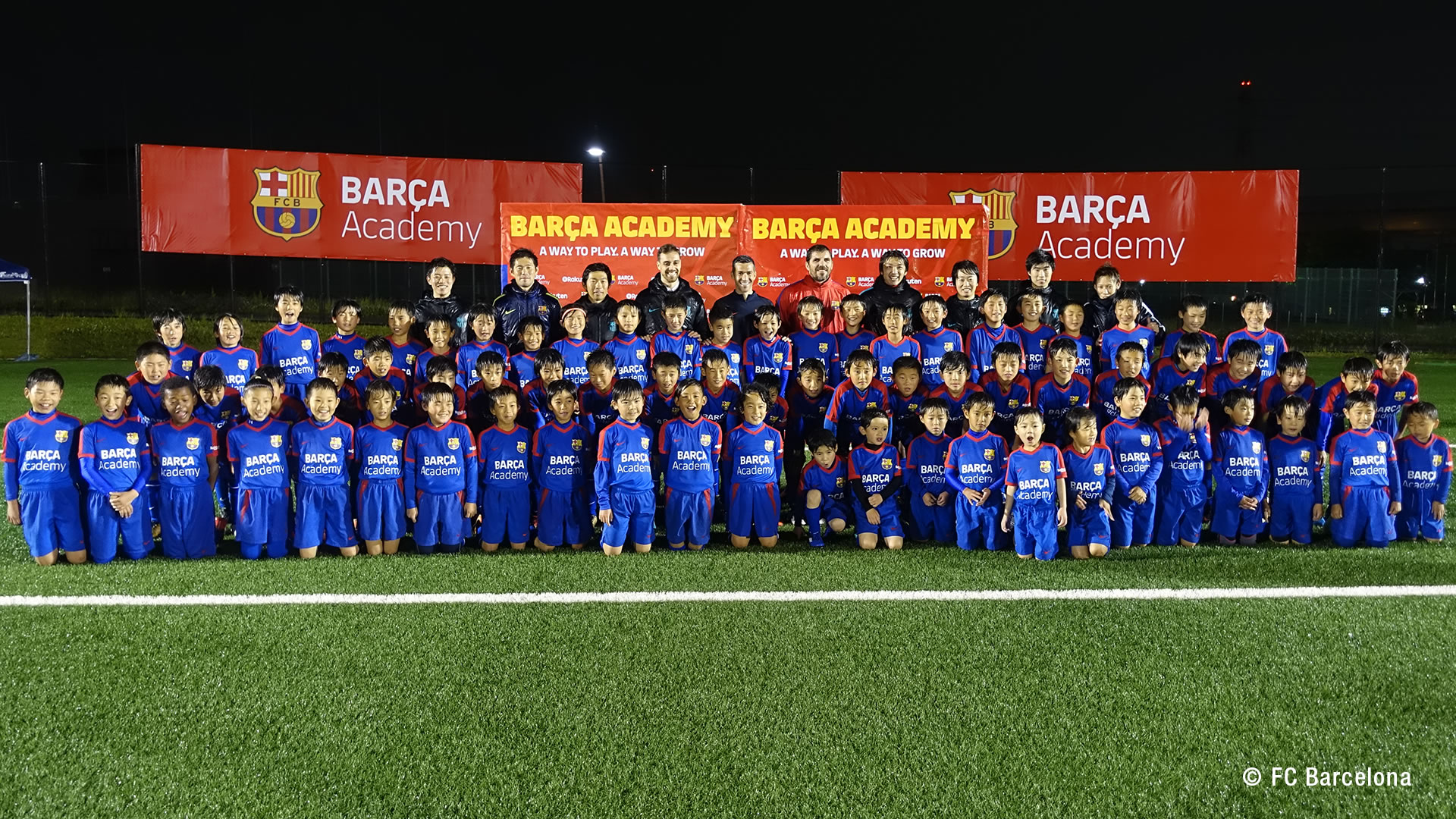 Barca and Rakuten Nurture Young Soccer Players in Japan