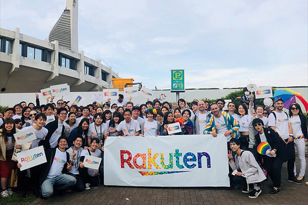 RakutenLogoAtEvent